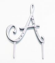 Large Silver Rhinestone Monogram Letter A